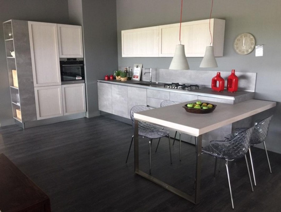 Cucina Con Penisola G D Cucine Space Legno Vivo A Novara Sconto 52