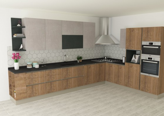 Cucina angolare Stosa Cucine INFINITY - Torino
