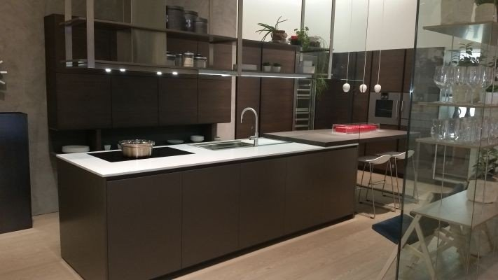 Cucina con Isola Dada Hi-Line 6 composizione isola