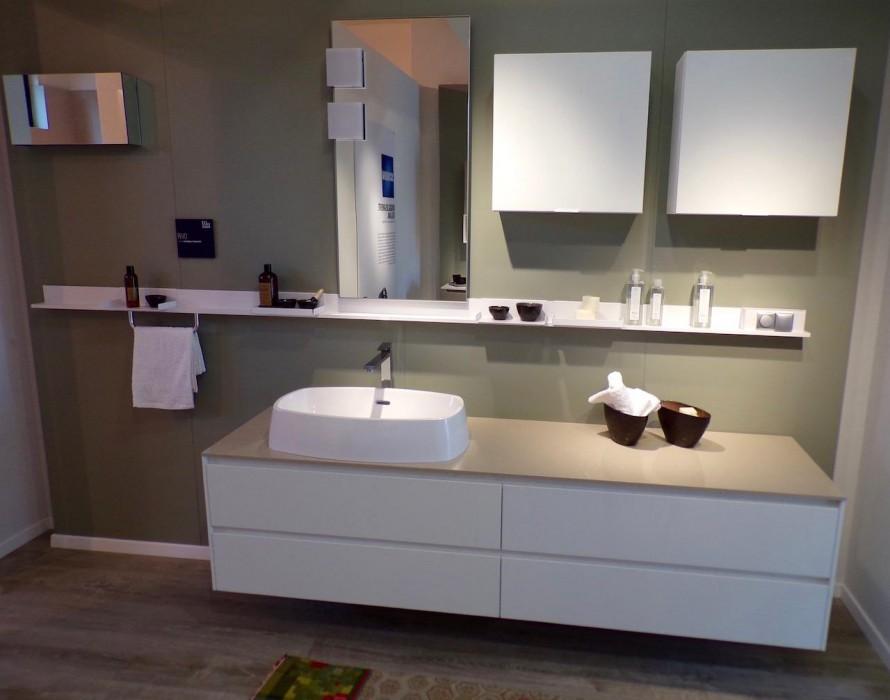 Mobile bagno Scavolini Rivo bianco prestige a Bergamo - Sconto 50%