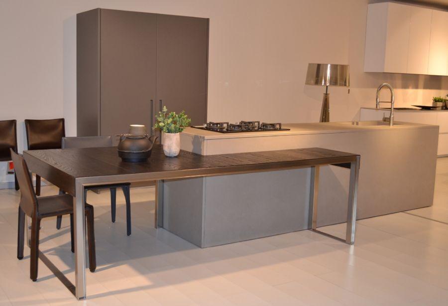 Isola cucina con tavolo ih09 regardsdefemmes - Cucina con tavolo estraibile ...