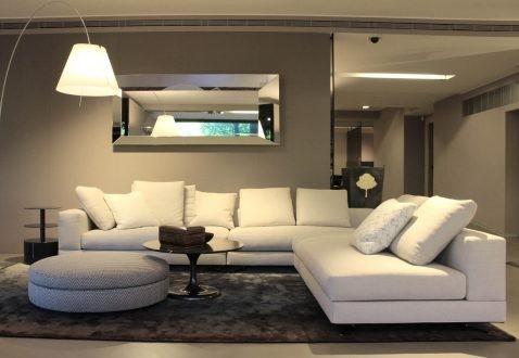 Divano minotti white sofa a milano sconto 40 for Divano minotti