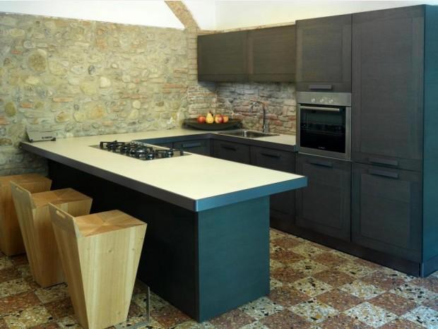 Cucina con penisola Composit Mida