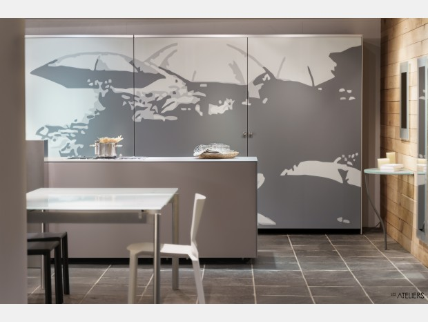 Cucina Valcucine armadiatura artematica vitrum arte