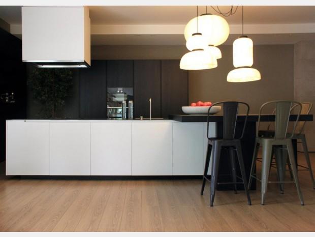 Cucina con Isola Varenna Phoenix olmo nero