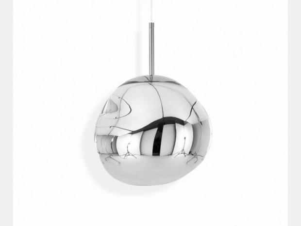 Lampada sospesa Tom Dixon Melt Mini Chrome