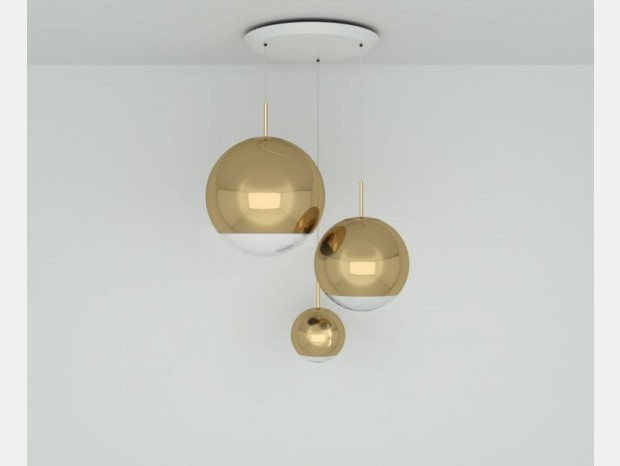 Lampada sospesa Tom Dixon Mirror Ball Gold