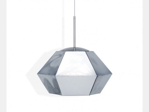 Lampada sospesa Tom Dixon Cut Short Chrome