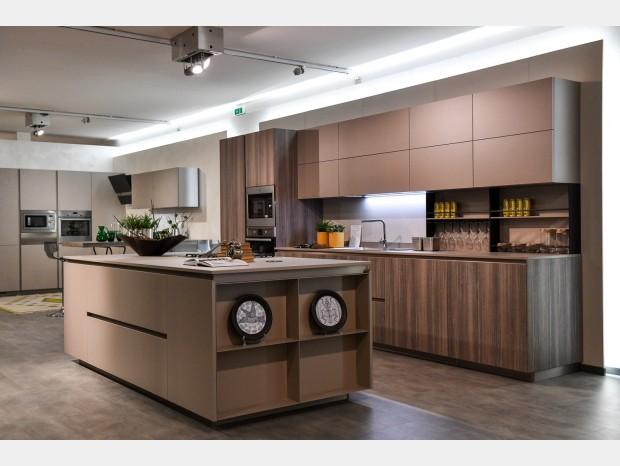 Cucina con Isola Arrital Ak Project bordo 30°