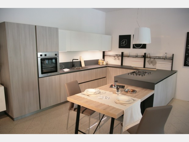 Cucina con penisola Dibiesse Play Lab XL