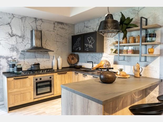 Cucina con penisola Arrex Regina