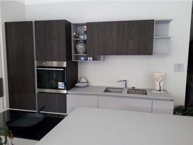 Cucina con Isola Euromobil Filo Antis33