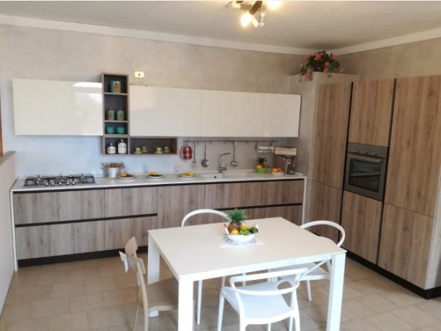 Cucina lineare Arredo3 Kalì rovere nordico