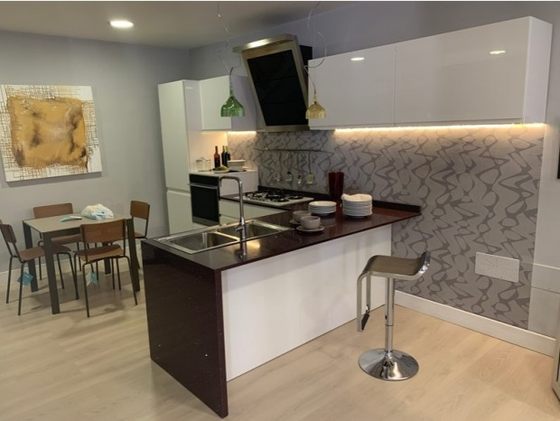 Cucina con penisola Arrex Arcobaleno