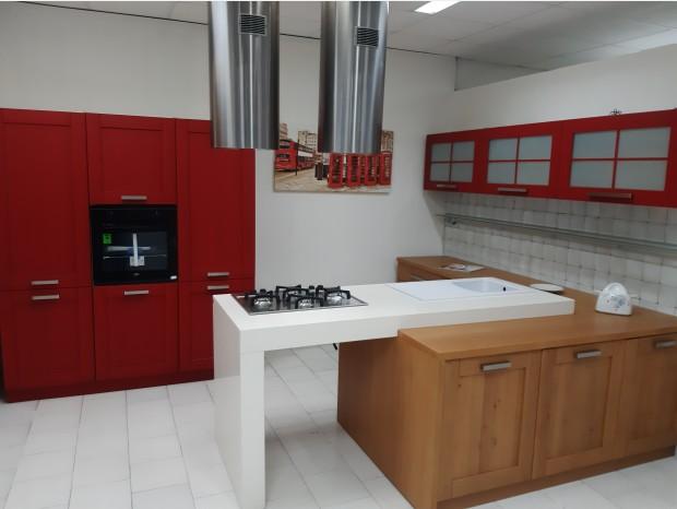 Cucina angolare Produzione Artigianale SANTA ROSSA