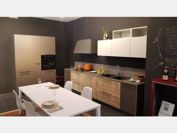 Cucina lineare Ar-Due Easy Melaminico Telaio+antracite