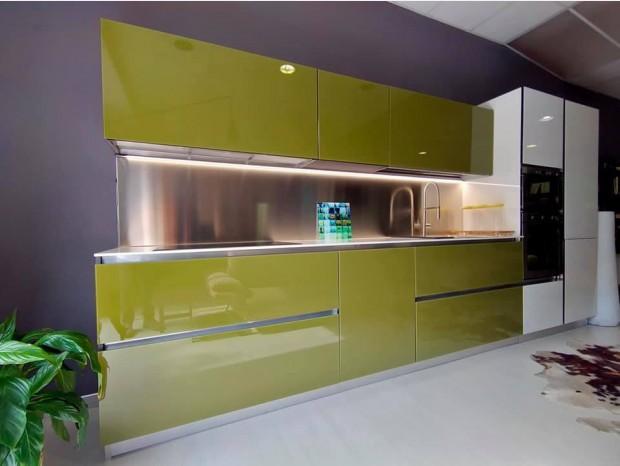Cucina lineare Cucinesse Glass