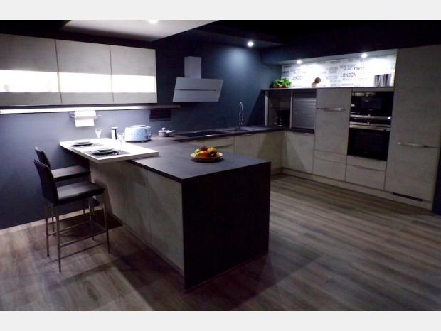 Cucina angolare Kitchen Line Design White Concrete