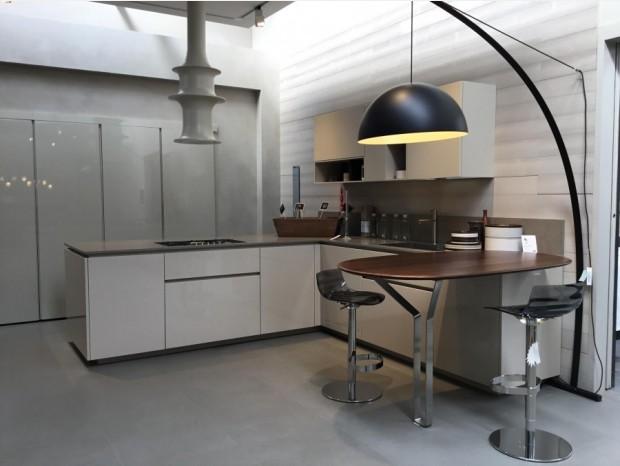 Cucina con penisola Rossana HD23G