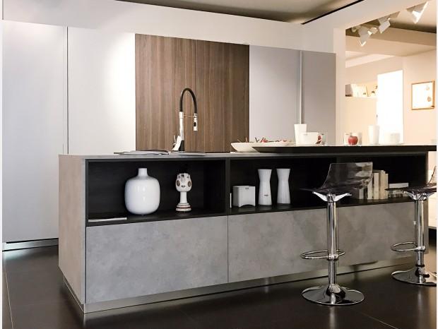 Cucina con Isola Scic Mediterraneum Cemento