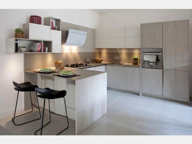 Cucina angolare Produzione Artigianale Light Grey