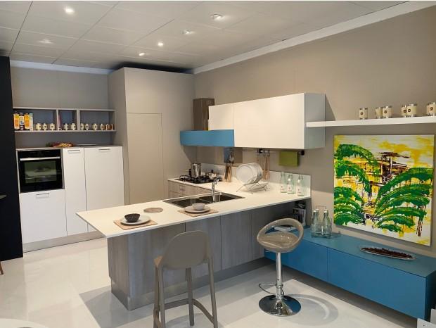 Cucina con penisola Berloni Sunny/ Plan