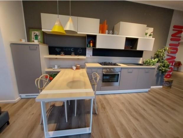 Cucina con penisola Scavolini Food Shelf