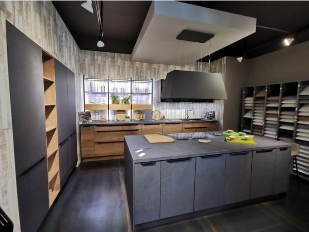 Cucina con Isola Lab Cucine STRUCTURA E STONE ART (elettrodomestici esclusi)