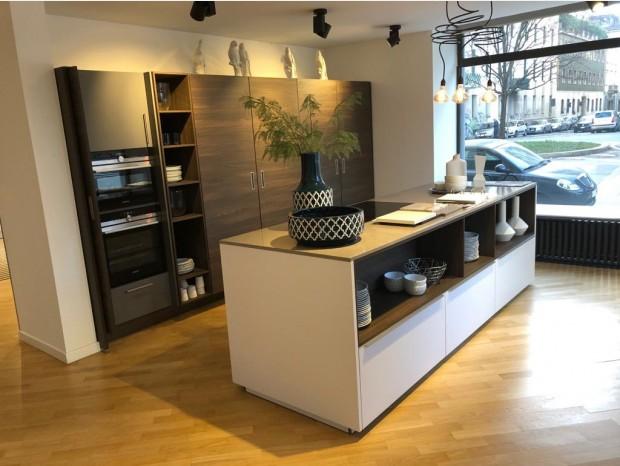 Cucina con Isola Nolte Küchen Art Wood