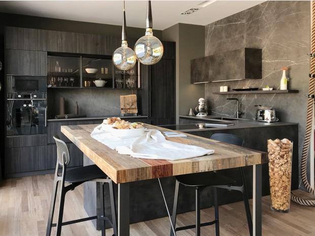 Cucina con penisola Valdesign Logica L90