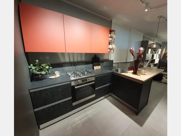 Cucina con penisola Febal Aria