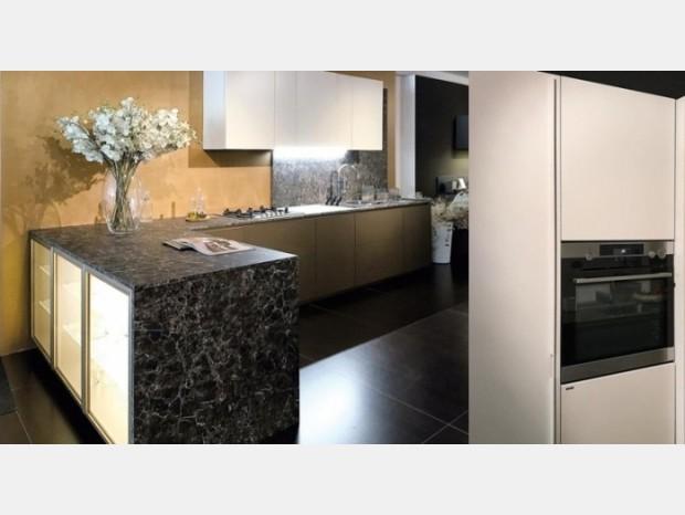 Cucina con penisola Scic Mediterraneum + colonne con Workstation