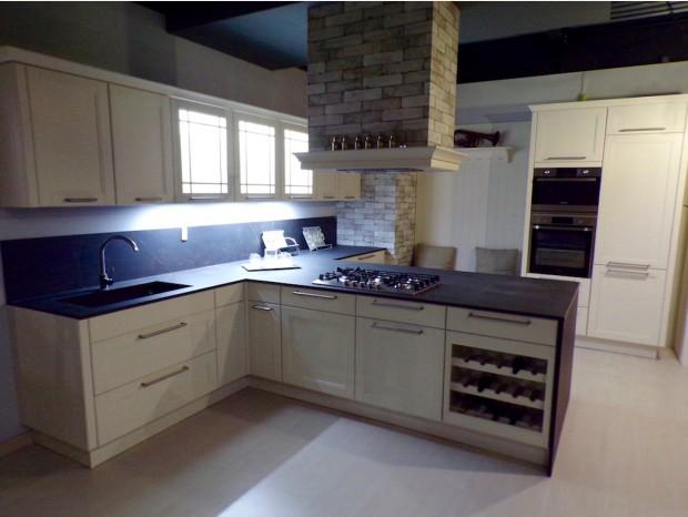 Cucina con penisola Kitchen Line Design Country Avorio