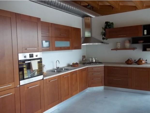 Cucina angolare Ar-Tre Sistema Telaio Ciliegio